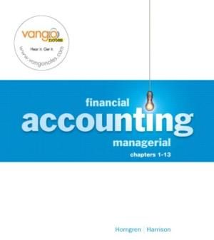 Financial Accounting Managerial, by Horngren