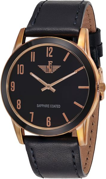 New Fande Men's Black Dial Leather Band Watch - NF010676