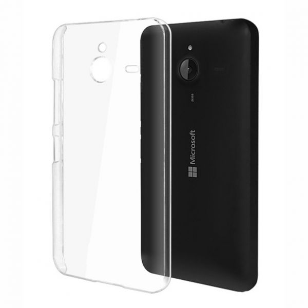 quality design a61ed dda52 Silicone Back Case Cover By Ineix For Microsoft Lumia 640 XL - CLEAR