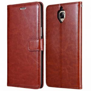 new photos ee251 b3ad5 Leather Case For Oneplus 3 - Brown