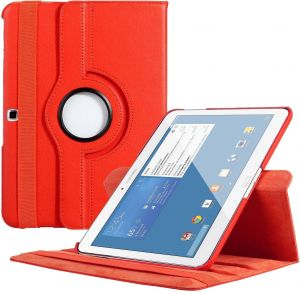 on sale cd17b 7deda Red Folio Stand 360 Rotating Wake And Sleep Case Cover For Samsung Galaxy  Tab 4 8 Inch