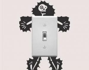 211820e6c Stickers for Electrical Switches, Home Decor, Waterproof Wall Stickers