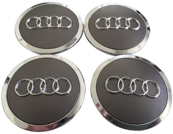 Audi Wheel Center Cap Set With Classic Grey Silver Design Souq UAE - Audi wheel center caps