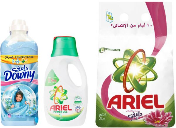 Ariel Automatic Detergent Downy 4kg With Ariel Power Gel