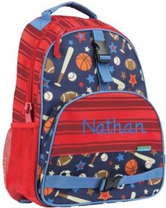 2ae34313d2ea Stephen Joseph Sports All-Over Print Backpack for Boys - Red