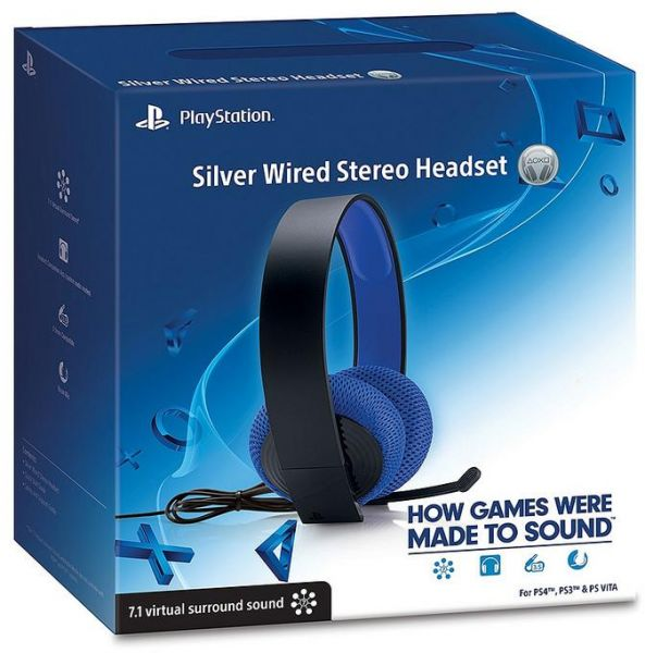 Souq | Sony PlayStation Silver Wired Stereo Headset Blue | UAE
