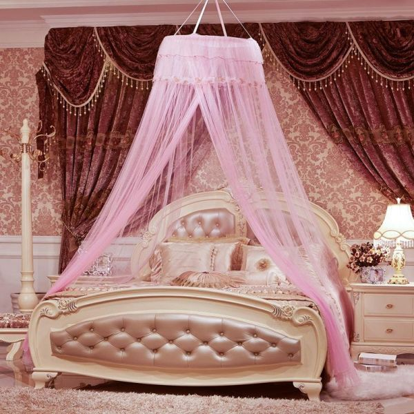 Round Lace Curtain Dome Bed Canopy Netting Princess Mosquito Net & Round Lace Curtain Dome Bed Canopy Netting Princess Mosquito Net ...