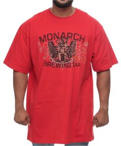 626 blue big and tall monarch brewing cotton short sleeve t shirt for men flaming red