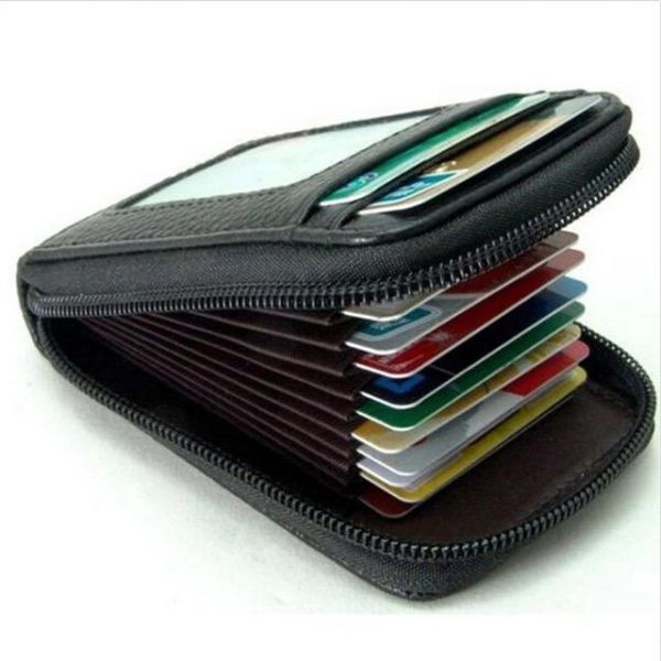 Black Faux Leather For Men - Card & ID Cases