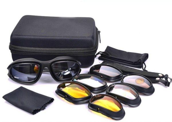 66c2d02838 Daisy C5 Tactical Military Sports Sunglasses 4 in 1