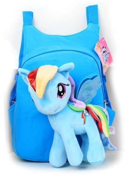 5db9466c36 3D my little pony backpack for girls Kids Rainbow Dash Child Plush ...
