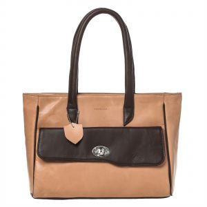 43f63a1d3735 Ferrulle Tote Bag for Women - Tan Brown