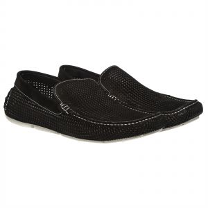 Steve Madden Ditmarz Loafers for Men - Black Nubuck