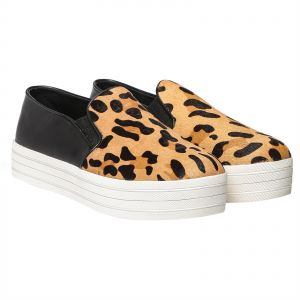 Steve Madden Buhba Slip On Shoes for Women - Leopard Pony