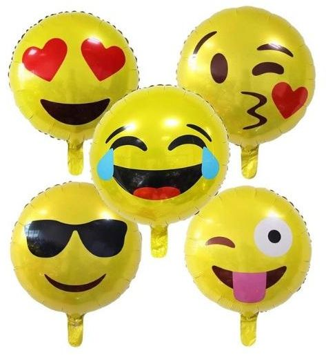 BESTPICKS 18 inches 5 Pcs Emoji Balloons for Birthday Party Home