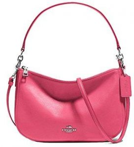 5b9f3a0c3a77f Coach 37018-SVDUL CHELSEA Crossbody Bag in Smooth Calf Leather - Dahlia PINK