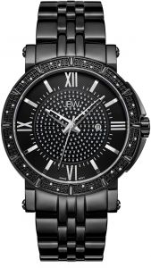 527d88c47 JBW Men's Vault 0.24 ctw Black Ion-Plated Stainless Steel Diamond Watch -  J6343D