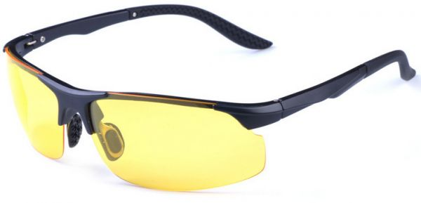 709768f8276d Male  Female polarized sunglasses TR90 Ultralight Driving Fishing glasses  Ultraviolet ray yellow 8008