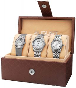 7a54cde0d August Steiner Diamond Women's White Stainless Steel Band Watch Set -  AS8123SS
