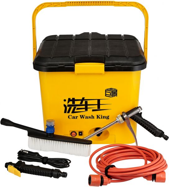 car wash king	  Car Wash King 37 Liters Pressure Car Washer, Yellow - BY-316 | Souq ...