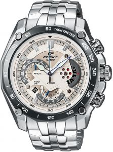 f0bf062b31fb Casio Edifice Men s White Dial Stainless Steel Chronograph Watch - EF -550D-7A