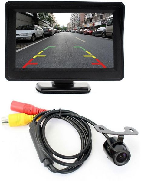 5 inch Car Dashboard LCD Monitor with Rear View Reversing Camera Auto  Parking Vehicle Assistance  7db96ac6f
