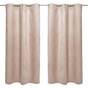 AFT Micro Suede Fabric Peanut Brown 220 Cm X 135 Curtains