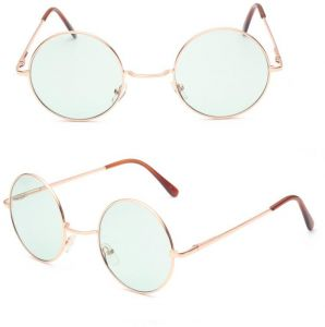 910ac07cf0 sunglasses Fashion Unisex Men Women Eyewear Round Sunglasses Gold Frame  Ocean Green Lens