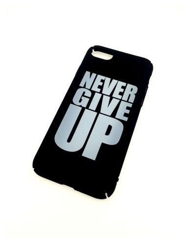 iPhone 7 Never Give Up Back Cover - Black | Souq - Egypt