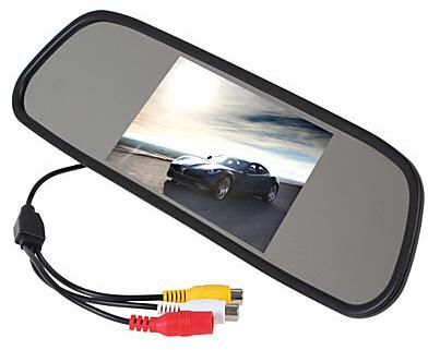TFT LCD Car Rearview Mirror Monitor 50 Inch 169 Screen DC 12V For DVD Camera VCR