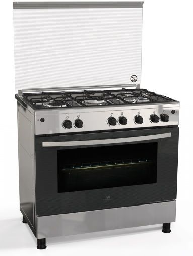 white westinghouse 5 burner free standing gas cooker silver rh saudi souq com Westinghouse Oven Pilot Out Westinghouse Four Burner Gas Oven