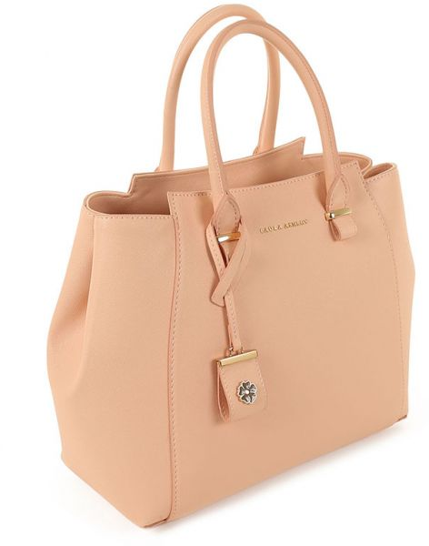 Laura Ashley Tote Bag for Women - Leather, Cream   Souq - UAE 182fbaba47