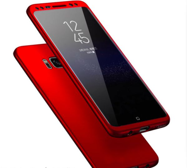 premium selection 6eddd 4a20f SAMSUNG S8 Plus 360 PROTECT CASE WITH TEMPERED GLASS-RED