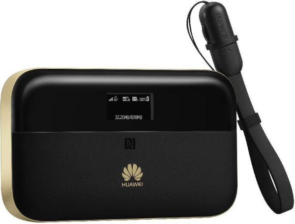 Huawei Pro 2 E5885Ls WiFi Router and Powerbank , 4G LTE , 6400mAh , Black  and Gold