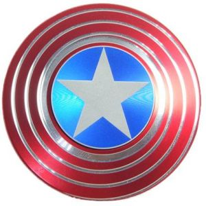 Hand Spinner Metal Captain America Sign Fidget Relieve Stress For Adults Finger Toys