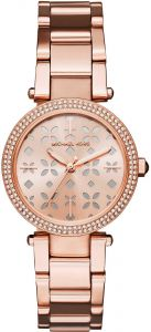 123957363419 Michael Kors Mini Parker Women s Rose Gold Dial Stainless Steel Band Watch  - MK6470