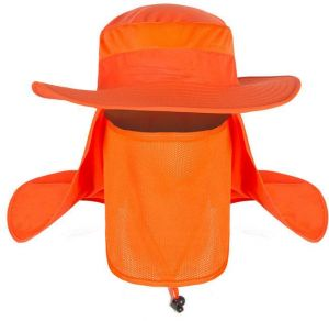 e9e6a5e91 Outdoor quick-drying bucket hat cap ride sun-shading anti-uv protection  caming hiking Fishing cap Orange MZ023
