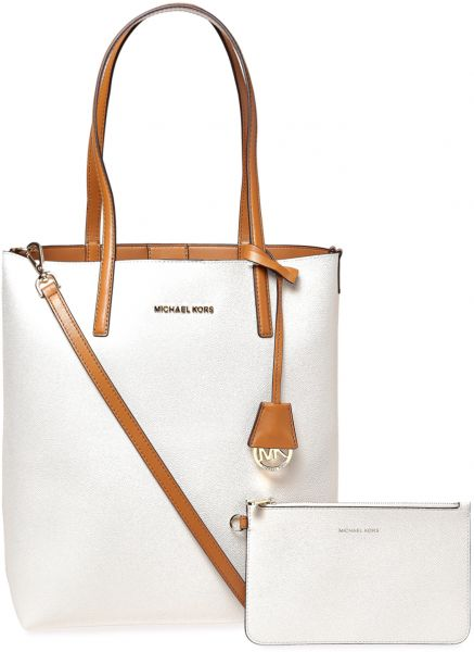 2594a52132ab Michael Kors Hayley Tote Bag for Women - Vanilla & Acrn | KSA | Souq