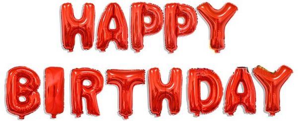 13pcs red happy birthday letter aluminum foil balloons for birthday party decoration