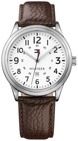 a04f2950 Tommy Hilfiger Men's Brown Leather Strap Watch 42mm 1791259. by Tommy  Hilfiger, Watches - 1 review