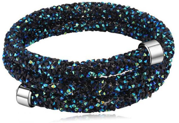 SWAROVSKI Elements Bracelets Bangles Magnetic Crystals Double Wrap ... 640d7e851b14