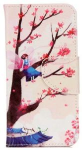 Samsung Galaxy A5 2017- Pretty Magnet PU Leather Wallet Card Slot Case Cover -Colored tree
