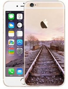 94afb7d981e13 Soft Silicone Rubber TPU Pattern Back Case Cover For 4.7 inch Apple iPhone  7 Winter Railway