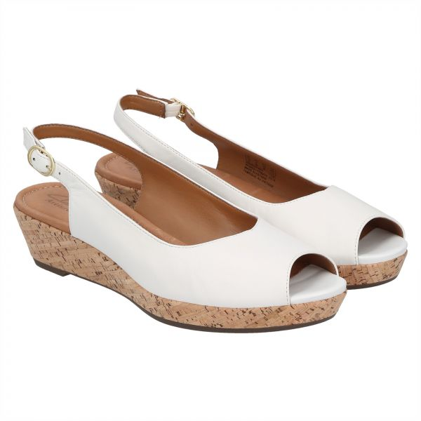1e09468ac88 Clarks Orlena Currant Wedge Sandals for Women - White