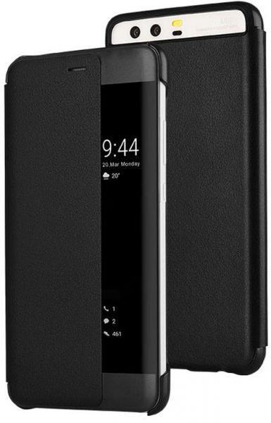 buy online f6034 183db Huawei P10+ Plus Smart View Flip Cover Case - Black