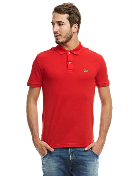 9291ff41 Lacoste Red Shirt Neck Polo For Men