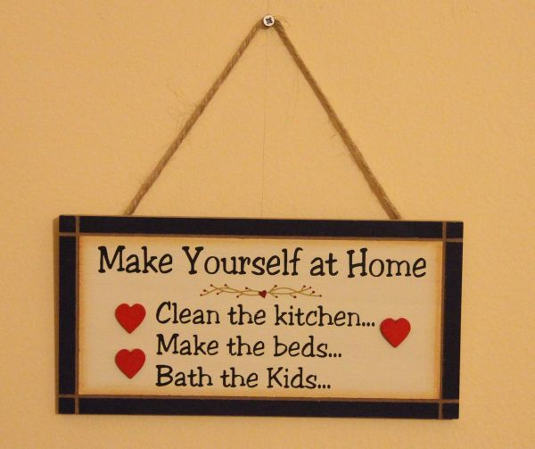 Souq | Make Yourself At Home Wood Sign for Home Decor and Kitchen ...