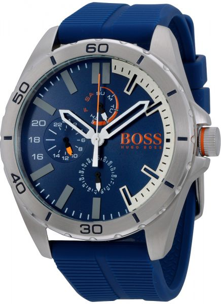 Hugo Boss Men s Blue Dial Leather Band Watch - 1513291  0baba9e99620
