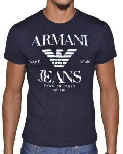 6a83e8e40e3 Armani Jeans Dark Blue Round Neck T-Shirt For Men