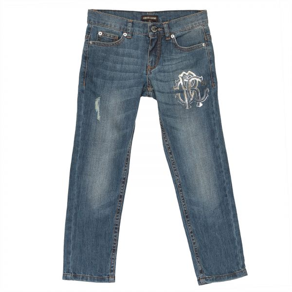 a9d4e0bc49 Roberto Cavalli Straight Jeans Pant For Boys